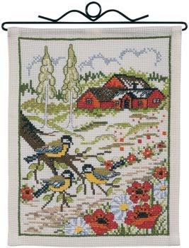 Permin Kits700702 ~ House And Birds ~ 8 count Aida