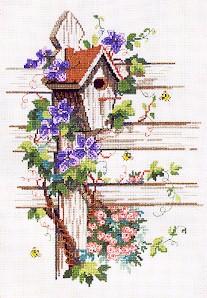 Permin Kits703120 ~ Birdhouse ~ 14 count Aida