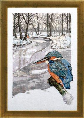 Permin Kits704129 ~ Kingfisher ~ 26 count Linen