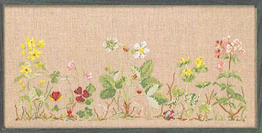 Permin Kits704131 ~ Wayside Strawberry ~ 30 count Linen