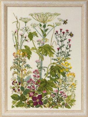 Permin Kits0704153 ~ Flowers Wayside ~ 32 count Linen