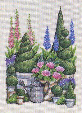 Permin Kits705317 ~ Green Garden ~ 26 count Linen