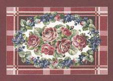 Permin Kits707020 ~ Roses ~ 26 count Linen