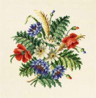 Permin Kits707039 ~ Flower Bouquet ~ 11 count Aida