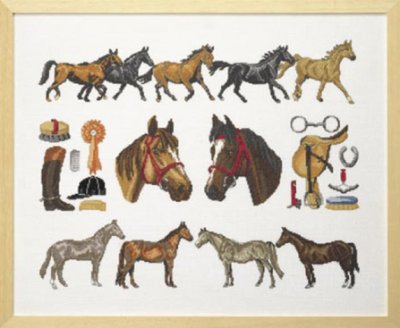 Permin Kits708490 ~ Horse Homage ~ 30 count Linen