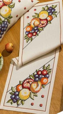 Permin Kits751803 ~ Fruits Tablerunner ~ 8 count Aida