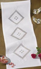 Permin Kits751814 ~ Hardanger Tablecloth ~ 22 count Hardanger