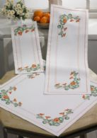 Permin Kits753709 ~ Flowers Long Table Runner (upper right) ~ 11 count Aida
