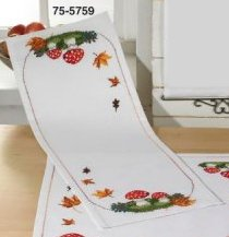 Permin Kits 755759 Fall Table Runner ~ 11 Count Aida