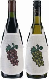 Permin Kits780316 ~ Grape Wine Bottle Aprons