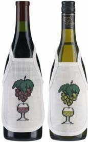 Permin Kits780317 ~ Grape And Glass WineBottle Aprons