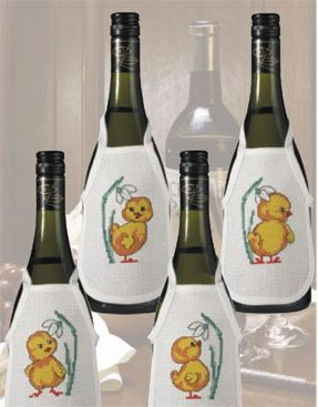 Permin Kits781348 ~ Chicken Wine Bottle Aprons