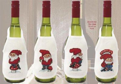 Permin Kits781594 ~ Christmas Elves Wine Aprons