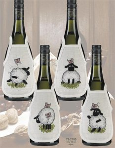 Permin Kits782105 ~ Sheep Bottle Aprons