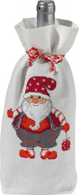 Permin Kits795257 ~ Santa Bottle Aprons ~ 14 count Aida