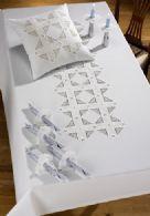 Permin Kits830599 ~ White Hardanger Pillow ~ 22 count Hardanger