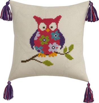 Permin Kits832858 ~ Owl Pillow ~ 8 count Aida