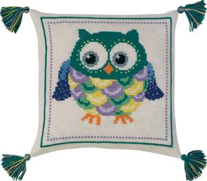 Permin Kits833877 ~ Owl Pillow ~ 8 count Aida