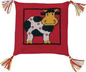 Permin Kits834196 ~ Cow Pillow ~ 6 count Aida