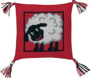 Permin Kits834197 ~ Sheep Pillow ~ 6 count Aida