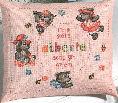 Permin Kits0834308 ~ Teddy Girl ~ 14 count Aida