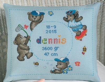 Permin Kits0834309 ~ Teddy Boy ~ 14 count Aida