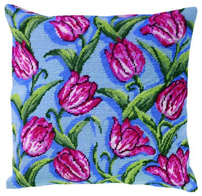 Permin Kits836301 ~ Tulips Pillow ~ Canvas