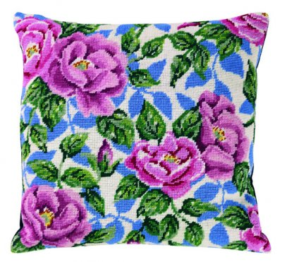 Permin Kits836302 ~ Roses Pillow ~ Canvas