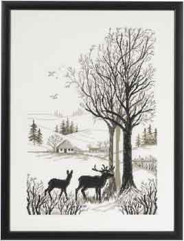 Permin Kits901108 ~ Deer ~ 14 count Aida