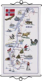 Permin Kits901540 ~ Map Of Norway ~ 14 count Aida
