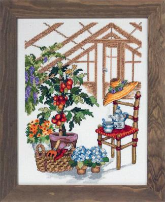 Permin Kits903106 ~ Greenhouse ~ 14 count Aida