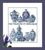 Permin Kits905482 China Blue ~ 14 count Aida