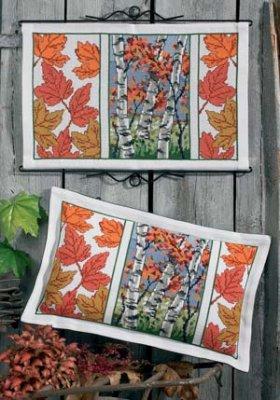 Permin Kits909124 ~ Fall Trees/Flowers ~ 8 count Aida