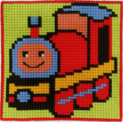 Permin Kits9130 ~ Train - Children's Kit ~ Canvas