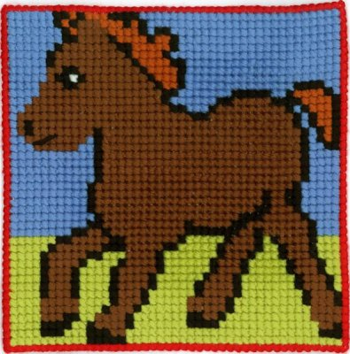 Permin Kits9135 ~ Pony - Children's Kit ~ Canvas