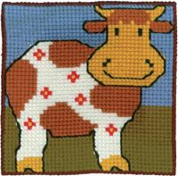 Permin Kits9143 ~ Cow - Children's Kit ~ Canvas