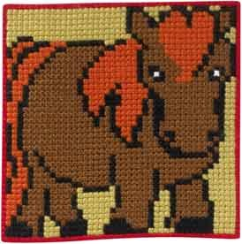 Permin Kits9164 ~ Horse - Children's Kit ~ Canvas