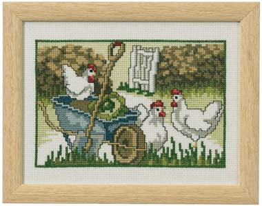 Permin Kits920147 ~ Chickens ~ 14 count Aida
