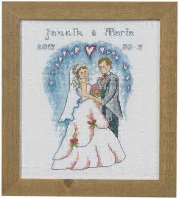 Permin Kits920177 ~ Wedding ~ 14 count Aida