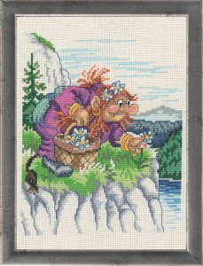Permin Kits921588 ~ Troll Mother ~ 14 count Aida