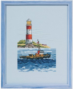 Permin Kits922108 ~ Boat Lighthouse ~ 11 count Aida