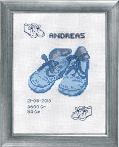 Permin Kits922159 ~ Andreas Birth Announcement ~ 14 count Aida