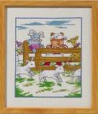 Permin Kits923310 ~ Farm Yard - Bobbi Happy Friends ~ 16 count Aida