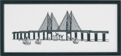 Permin Kits0924328 ~ Harbour Bridge ~ 14 count Aida