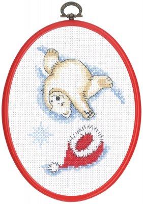 Permin Kits925645 ~ Ice Bear Hat Off ~ 14 count Aida