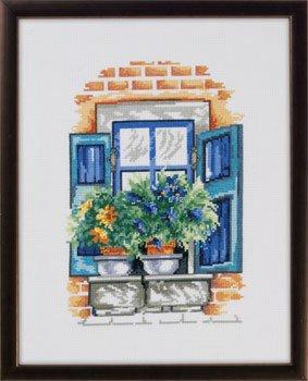 Permin Kits926166 ~ Flowers On Windowsill ~ 14 count Aida
