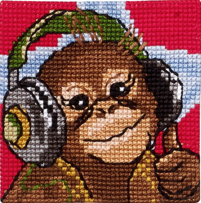 Permin Kits9282 ~ Orangutang ~ 4 Count Printed Canvas