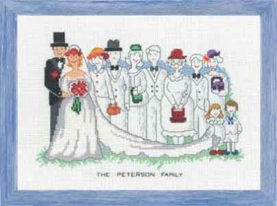 Permin Kits928341 ~ The Wedding ~ 14 count Aida