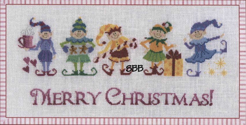 Teresa Layman Designs Kits The Christmas Elves Cross Stitch