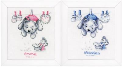 Vervaco Kits PNV11892 Baby Laundry Birth Announcement
